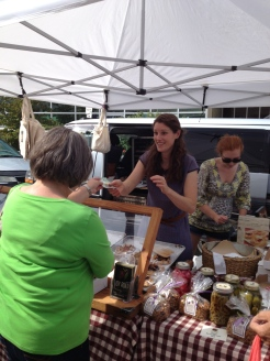Dana Ewart at the Penticton Farmer's Market photo - Karen Anderson