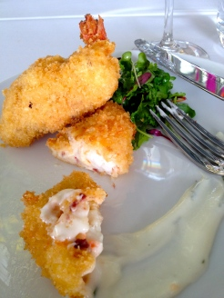 Joy Road's B.C. Spot Prawn and Ham Hock Croquettes photo - Karen Anderson