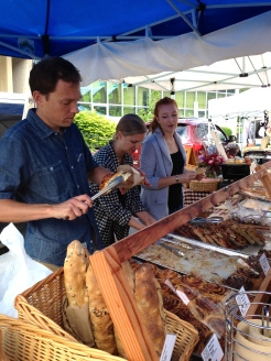 Cameron Smith at the Penticton Farmer's Market photo - Karen Anderson