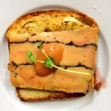 Brioche Toast with foie gras and chocolate terrine from Rouge Restaurant - savoury melt-in-your-mouth heaven photo - Karen Anderson