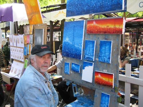 Montmarte is a great place to watch artists paint - it's fun and it's free photo - Karen Anderson