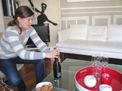 Champagne start to lunch - pourquoi pas? photo - Karen Anderson