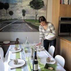 Setting a spring table Succulent Paris style photo - Karen Anderson