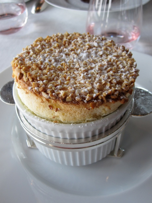 perfect soufflé at Alaine Ducasse's Jules Verne in the Eiffel Tower photo - Karen Anderson