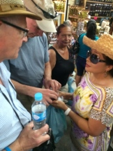 What fun to meet Alberta at Noon listener Rob Hutchinson (on left) on a market tour in Mexico photo - Karen Anderson