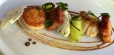 Scallops and pork belly by chef Duncan Ly of Hotel Arts photo - Karen Anderson