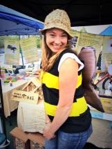 Calgary Food Tours Inc. beekeeper extraordinaire Eliese Watson of @yycbees