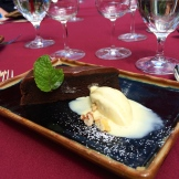 house made ice cream and flour less chocolate cake at Rouge photo - Karen Anderson