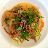 chef Duncan Ly's Pad Thai at Hotel Arts photo - Karen Anderson