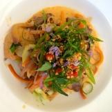 chef Duncan Ly's Pad Thai at Hotel Arts photo - Karen Anderson