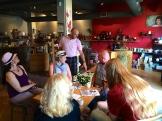 The Naked Leaf tea shop owner Jonathan Kane and guests photo - Karen Anderson