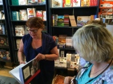 Cookbook Co Cooks owner Gail Norton discussing the art of cookbooks photo - Karen Anderson
