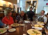 Visiting with restauranteur Dewey Neurdorf at Brava Bistro photo - Karen Anderson