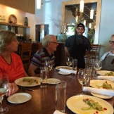 Visiting with restauranteur Dewey Neurdorf at Brava Bistro photo - Karen Anderson