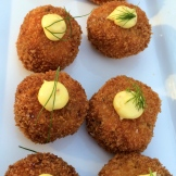 wild salmon croquettes photo - Karen Anderson