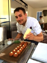 chef Matthew Altizer at work photo - Karen Anderson