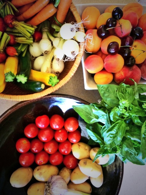 early July bounty from Penticton Farmers' Market Photo - Karen Anderson