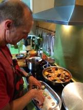 Jesus arranging the seafood photo - Karen Anderson