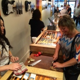 It's hard to believe how sharp a Japanese knife is until you try one - photo - Karen Anderson