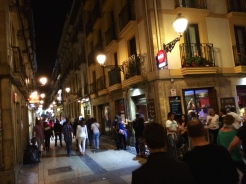 strolling and trolling for pintxos - photo - Karen Anderson