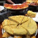 Spanish Omlette foreground - Jambon in background - photo - Karen Anderson