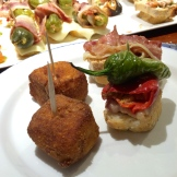 bacalao cubes on left - yum - photo - Karen Anderson