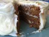 Barely a crumb - dense and rich carrot cake held together with Alberta canola oil - photo - Karen Anderson