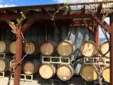 no matter how you stack the wine barrels the South Okanagan is a great place to visit - photo - Karen Anderson