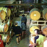 Barrelling through Fairview Cellars on private tour with owner - photo - Karen Anderson
