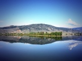 Calm morning at Lake Osoyoos - photo - Karen Anderson