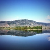 Calm morning at Lake Osoyoos - photo - Karen Anderson