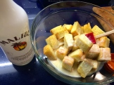 Mix to coat with white chocolate and rum - photo - Karen Anderson