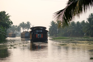 A tranquil day in Backwaters of Kerala in South India - photo - Karen Anderson