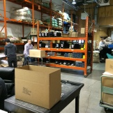 The busy warehouse of Phil and Sebastian - photo - Karen Anderson