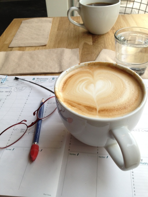 Coffee turns my brain on before I sit at my desk - photo - Karen Anderson