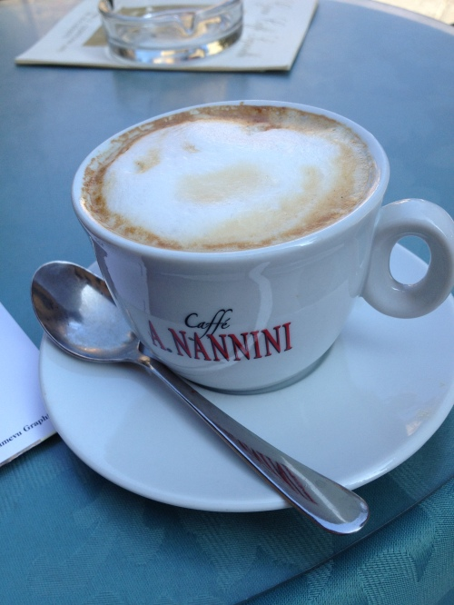 delicious 90 cents Euros coffee in Italy - photo - Karen Anderson
