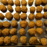 walnut sized balls ready for cooking - photo - Karen Anderson
