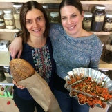 Patti Nolan, owner of Sunnyside Natural Market and Michal Lavi, co-owner of Sidewalk Citizen Bakery - photo - Karen Anderson