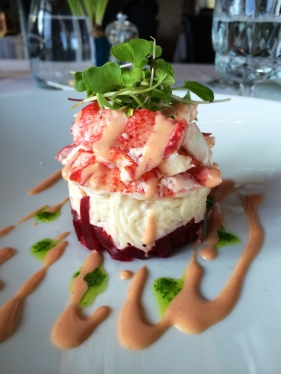 Lobster was easily foraged from the beaches of the Bay of Fundy but would it have been served like this in Champlain's day - photo - Karen Anderson