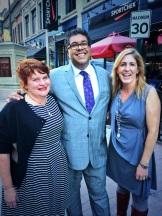 City Palate Publisher Gail Norton, Mayor Naheed Nenshi and event organizer Janet Henderson - photo - Karen Anderson