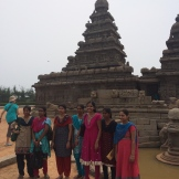 We aren't the only tourists to the Beach Temple in Mahallapuram, Tamilnadu - photo - Karen Anderson