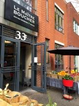 Translation: The Master Butcher - a popular Montreal corner grocer - photo - Karen Anderson