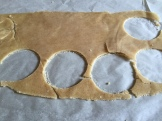freezing this brown sugar crust makes it easier to work with - photo - Karen Anderson