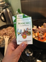 Love this handy little box of cooking wine - photo - Karen Anderson
