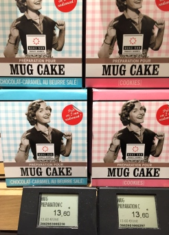 Ready to bake mug cakes at Le Grand Epicerie de Paris - photo - Karen Anderson