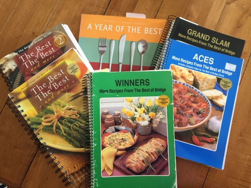 My collection of Best of Bridge Cookbooks - photo - Karen Anderson