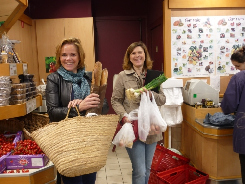 Marion Willard and AurélieMahoudeau of Succulent Paris love shopping for great ingredients in their 17th arrondissement neighbourhood in Paris - photo - Tandi Wilkinson