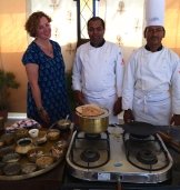 with chef Jitendra at Rohet Garh - photo - Gerri Robicheau
