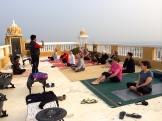 yoga at Deogarh - photo - Karen Anderson