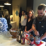"Proof bartender Jeff Savage making ""Duchess Lemonade"" with Aperol - photo - Karen Anderson"